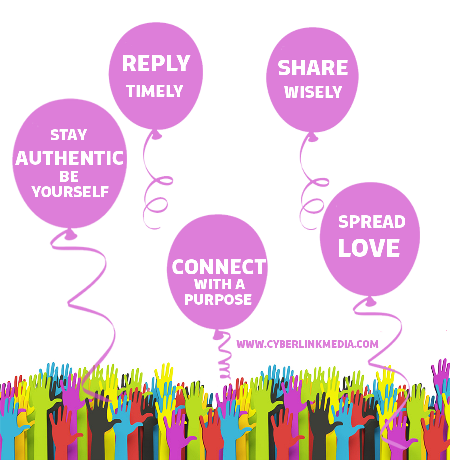 social media etiquette baloons 2 Social Media Etiquette   5 rules to keep in mind