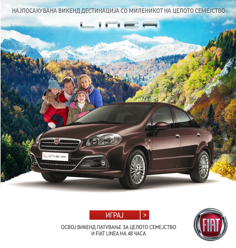 welcome page Fiat Linea voting contest   Gain huge brand awareness and build positive brand reputation